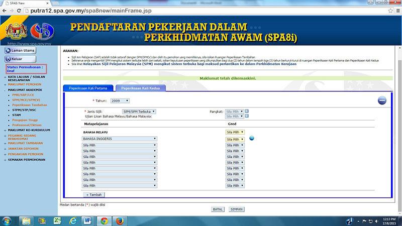 Suruhanjaya Perkhidmatan Awam Malaysia Permohonan Jawatan